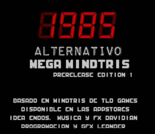 1985 Alternativo presenta Mega Mindtris para Sega Mega Drive