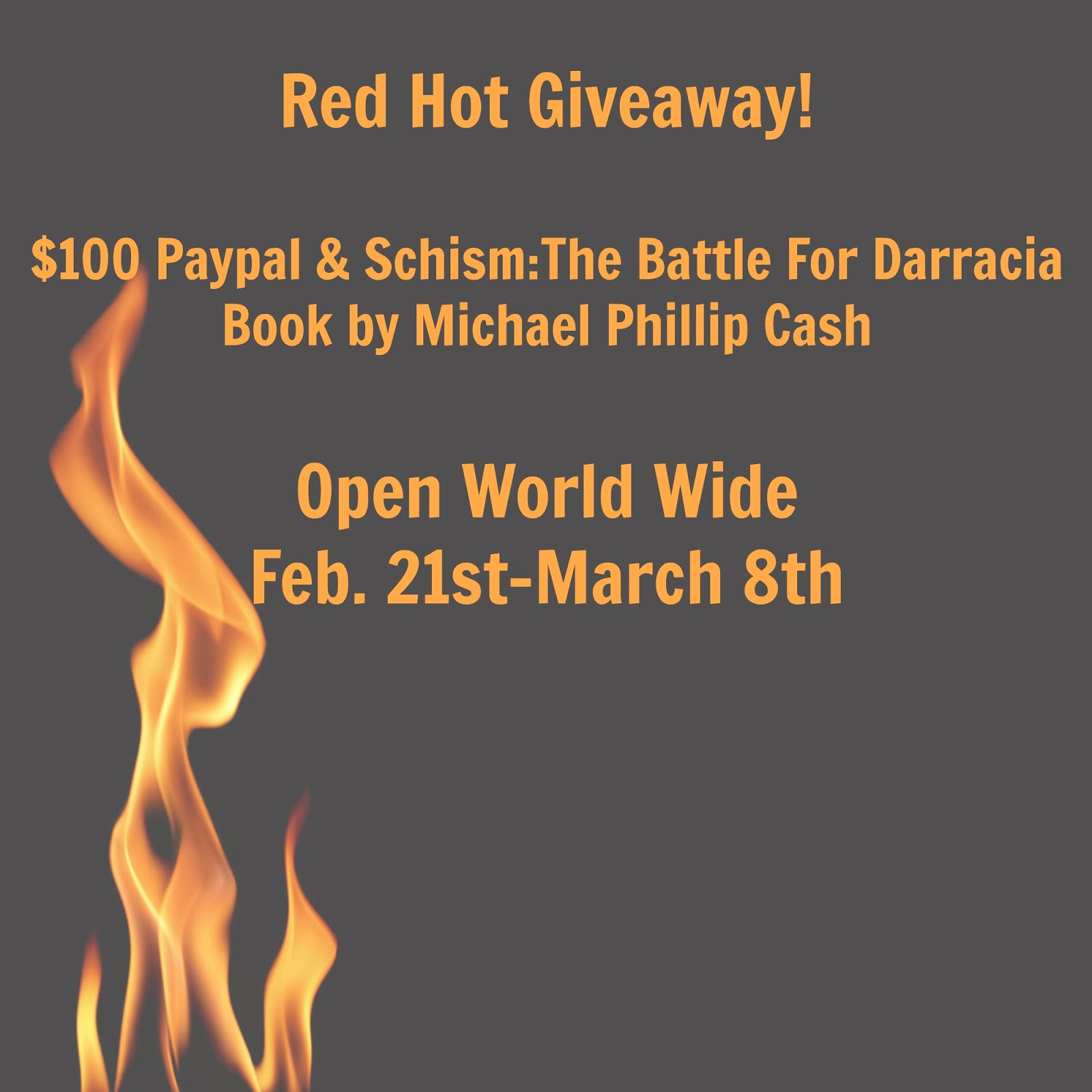 Enter the Schism: The Battle For Darracia $100 Paypal Giveaway. Ends 3/7.