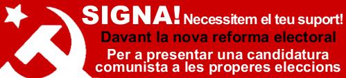 20-N; Ayuda al PCPE con las 35.000 firmas para poder estar en las elecciones ... Banner_signa