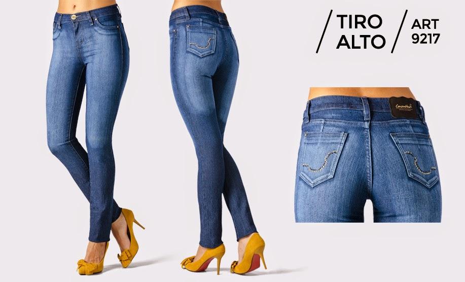 Jeans tiro alto elastizados