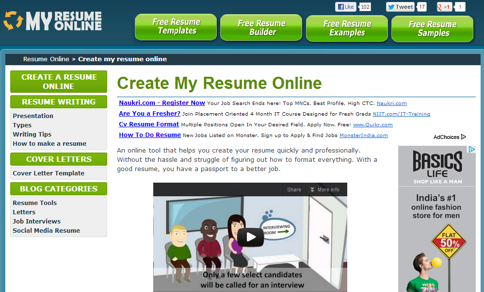 top 5 sites to create resume online stronics