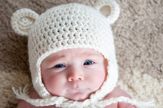 Free Crochet Bear Ear Hat Pattern : Thank-tober-Maybe Matilda - Simple Simon and Company