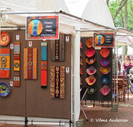 Booth at the festival