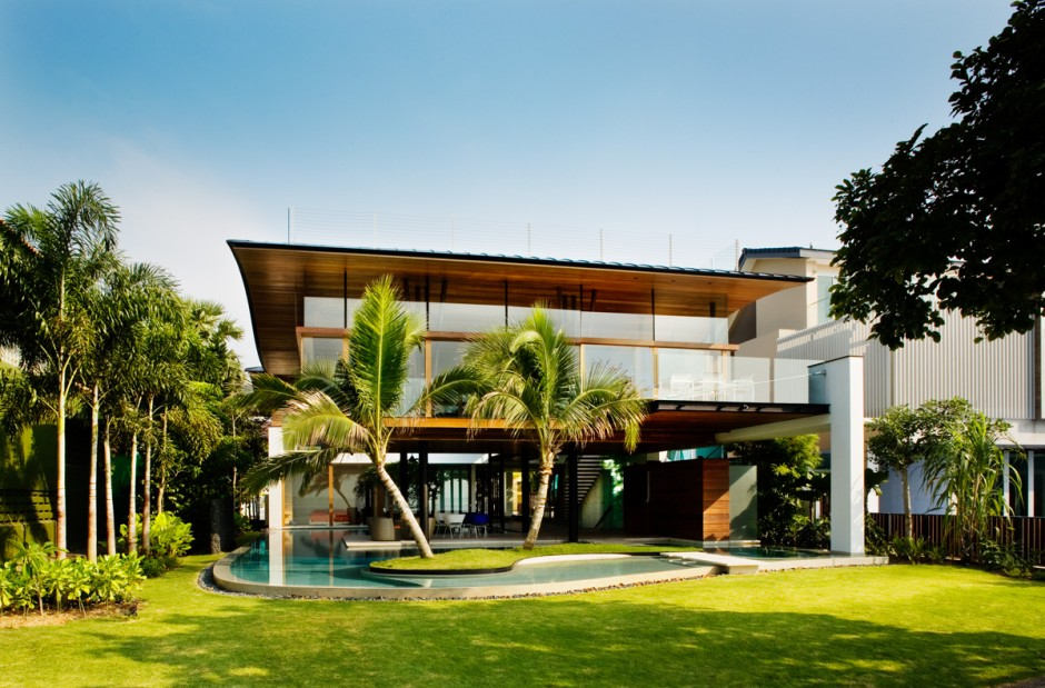 Modern luxury tropical house most beautiful houses in the for Home design ideas singapore