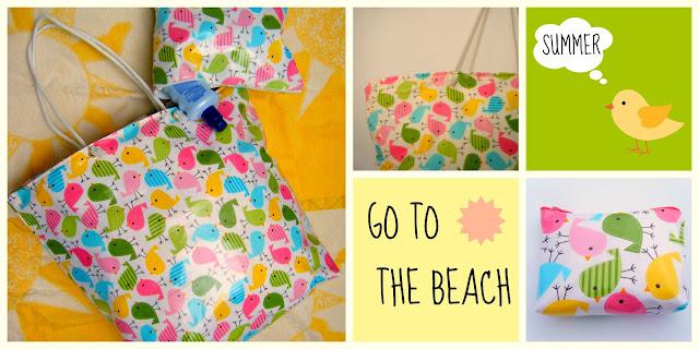Bolso y neceser para ir a la playa