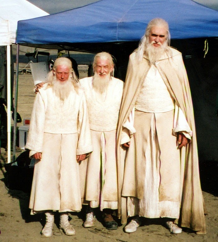 Gandalf y sus dobles de esenas especiales en el Señor de los Anillos