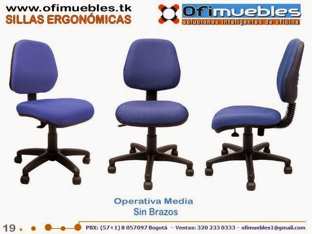 Sillas ergon micas secretariales operativas y ejecutivas for Sillas operativas para oficina