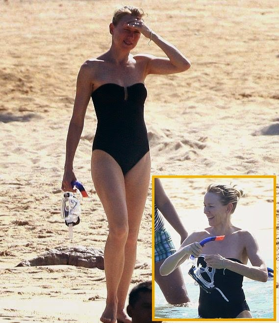 Ah, to be in Mexico right now with a set of binoculars and a drink in our hand. The stunningly beautiful, Naomi Watts was spotted strolling to the beach and completely beauty in a swimsuit at Cabo San Lucas on Wednesday, August 6, 2014 with family