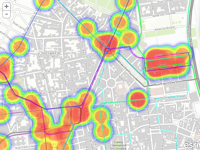 how to create a heat map in arcgis