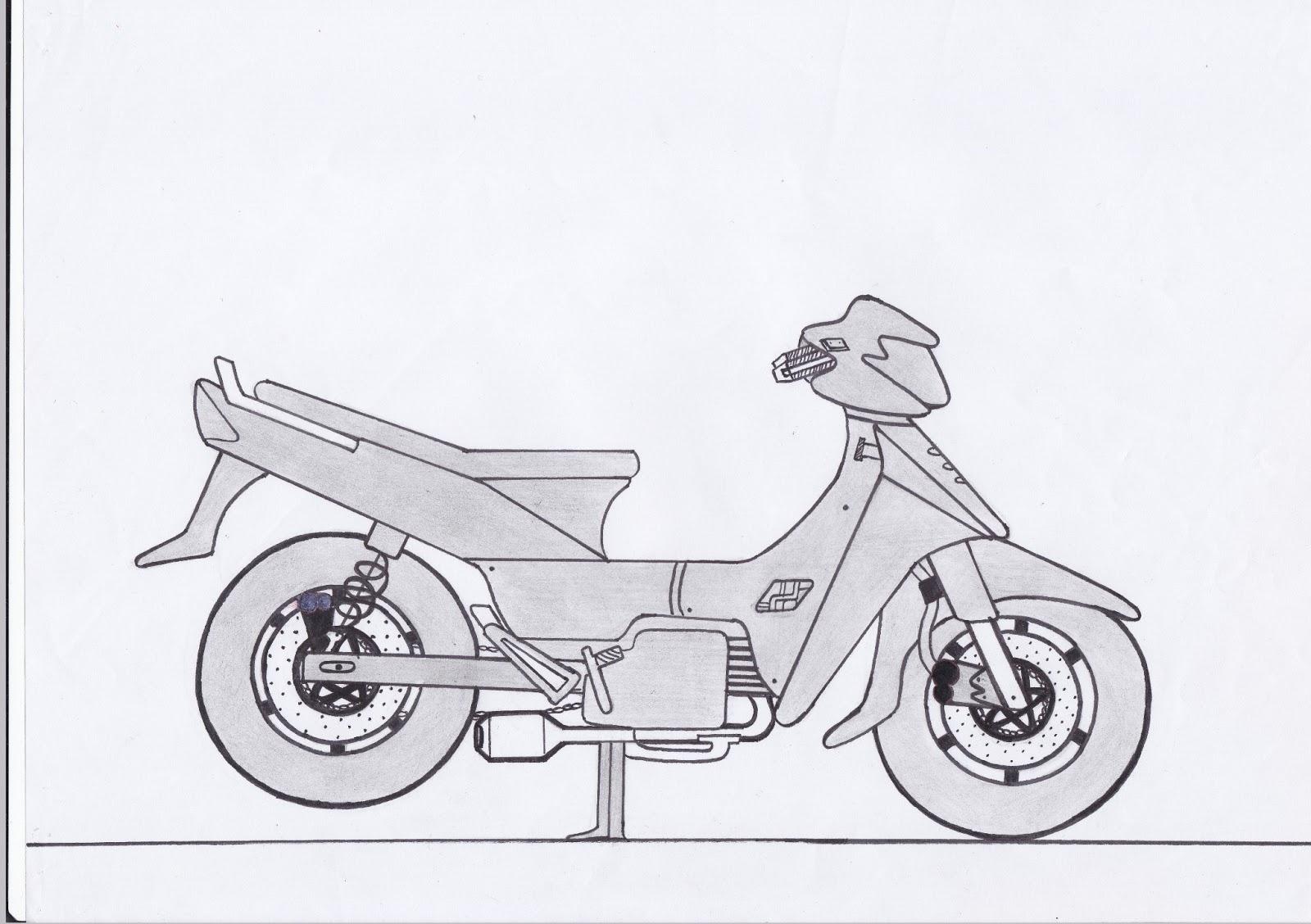 Kumpulan Gambar Motor Drag Dengan Pensil Terlengkap Kinyis Motor