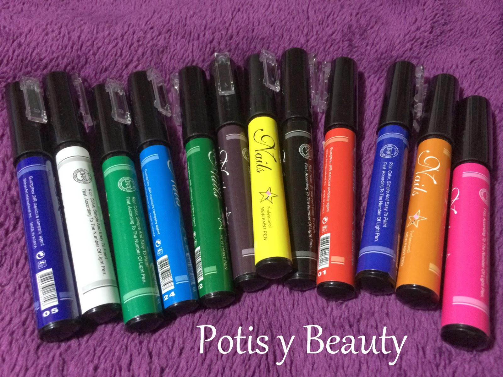 nail pen de colores