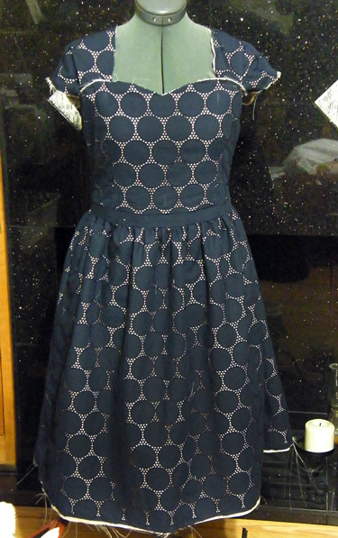 Eyelet Cambie Dress in Progress