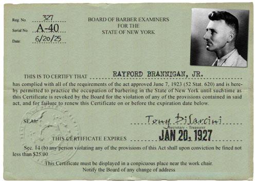 Barber License : Barber_License.jpg