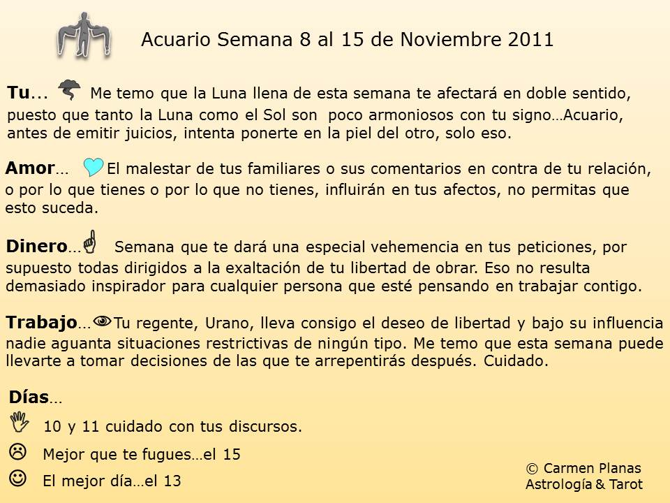 Horoscopo semanal arcanos for Horoscopo de hoy acuario