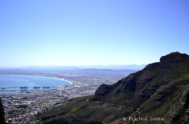 View from hiking up Table Mountain