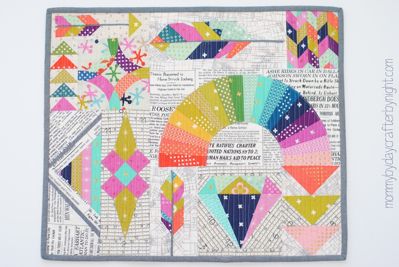 Mini Quilt Block Template Set : Mommy by day Crafter by night: Cotton + Steel Mini Quilt Swap