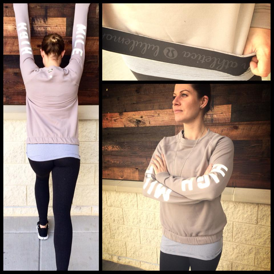 lululemon warm up crew silver