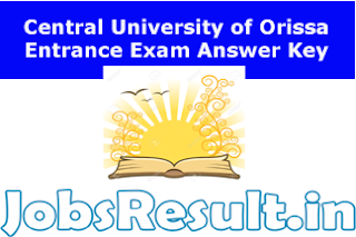 Central University of Orissa Entrance Exam Answer Key 2015