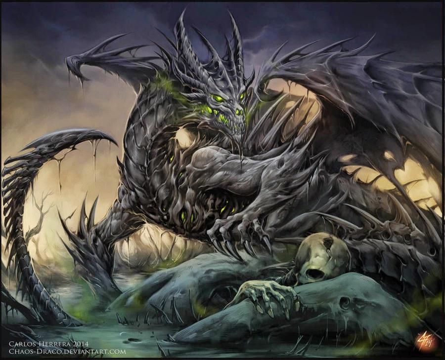 Dragon over dead bodies