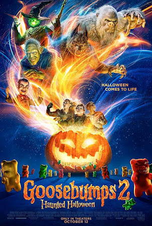 Poster Of Goosebumps 2: Haunted Halloween In Dual Audio Hindi English 300MB Compressed Small Size Pc Movie Free Download Only At worldfree4u.com