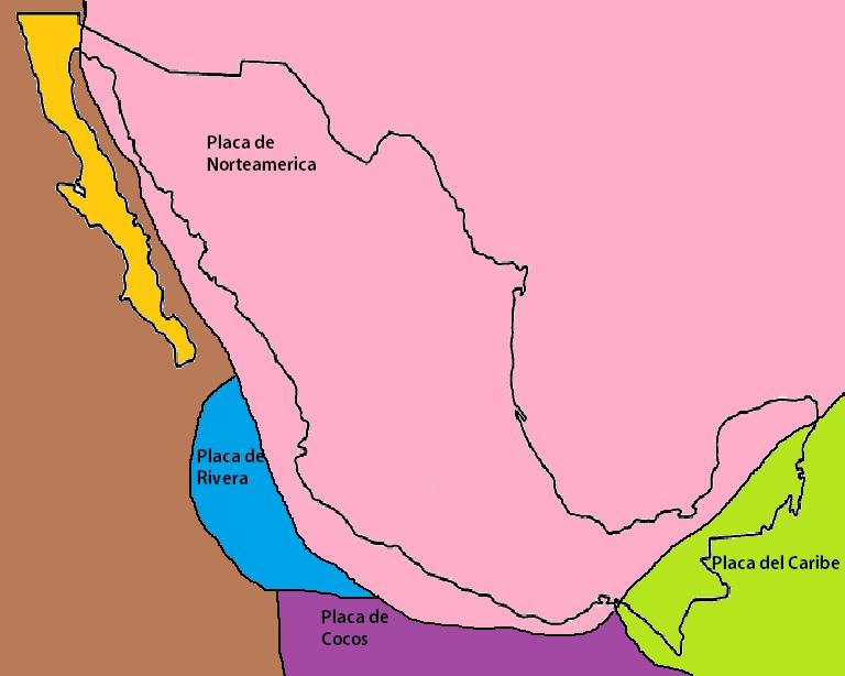 Placas Tectonicas de la Republica Mexicana