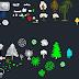 مجموعة بلوكات أشجار رائعة اوتوكاد dwg