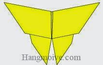 Bước 14: Hoàn thành cách xếp con bướm bằng giấy theo phong cách origami.