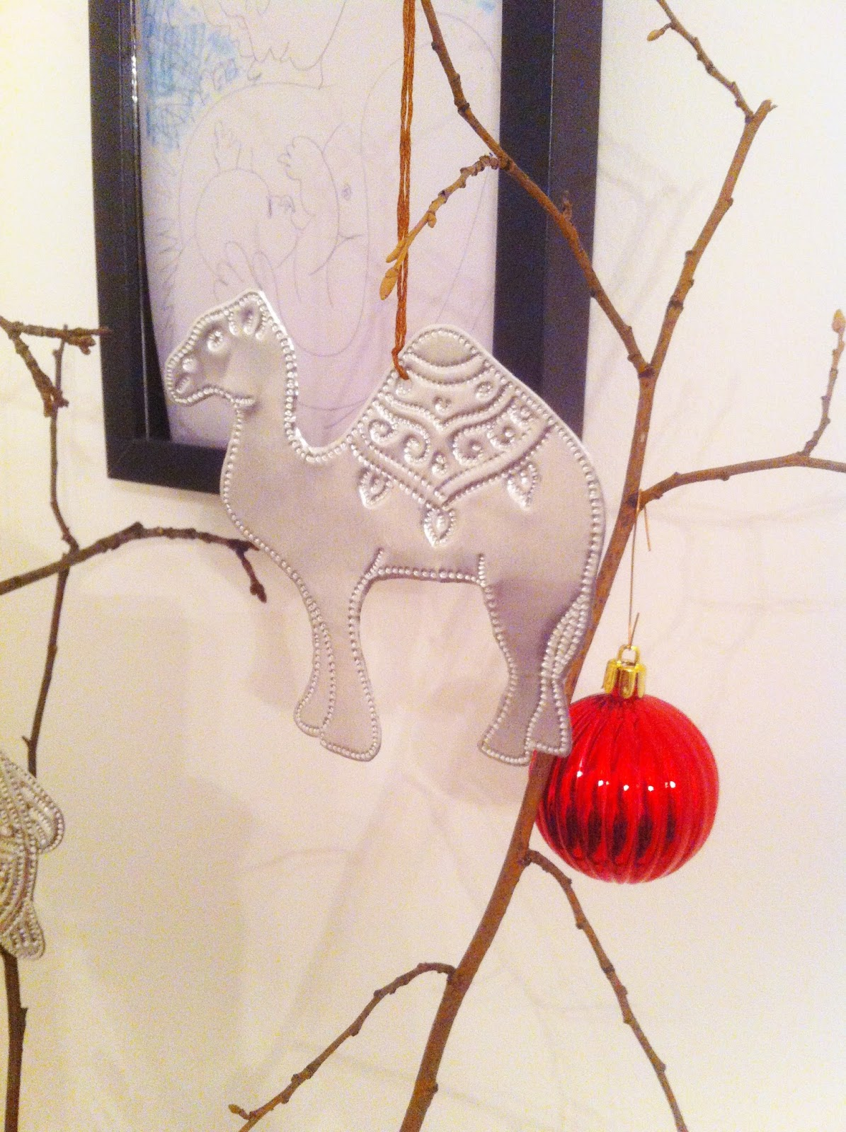 violet grey weihnachts anh nger aus pr gefolie. Black Bedroom Furniture Sets. Home Design Ideas