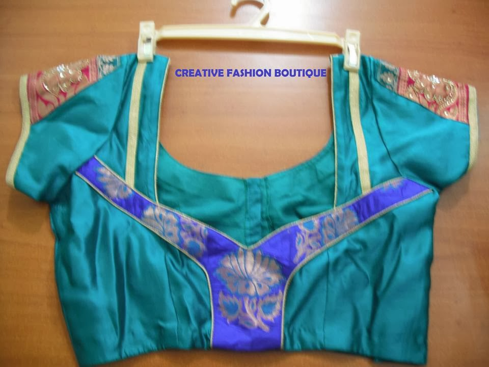 wedding blue colour silk blouse