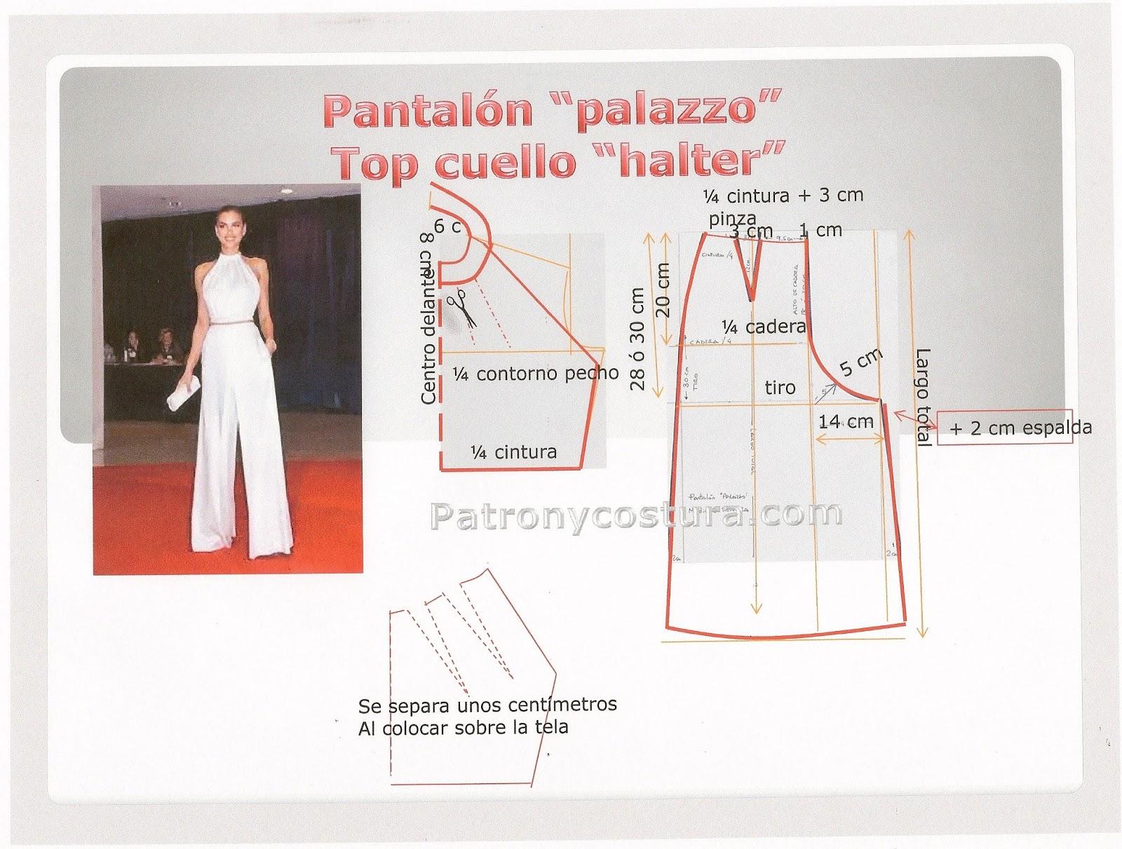 """pantalón tipo """"palazzo""""-Tema 24"""