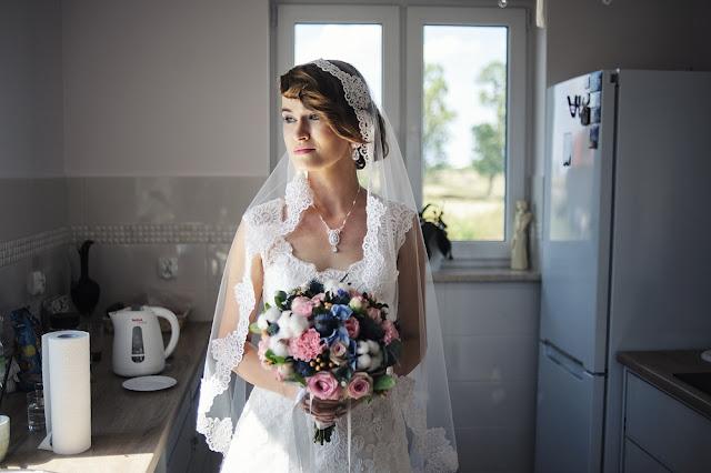 Różowy komplet ślubny sutasz