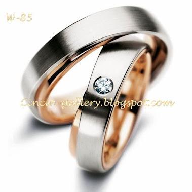 cincin kawin palladium  masing-masing 5 grm  + ( diamond 0,10  1ct )