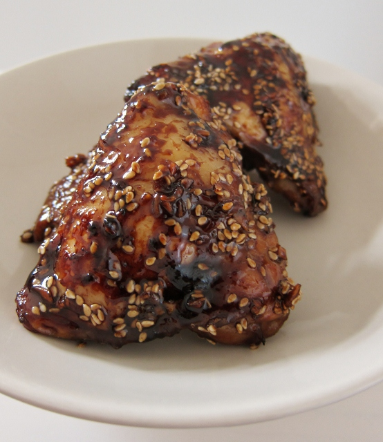 Sweet Balsamic Baked Chicken Thighs Recipe from Nomsies Kitchen