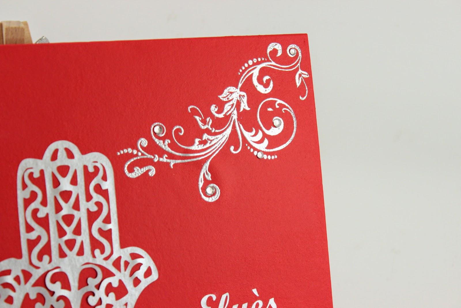 livre dor pour mariage ou autre vnement peint et dcor mainsici rouge et argent avec dcors et arabesques en papier argent - Livre D Or Mariage Oriental