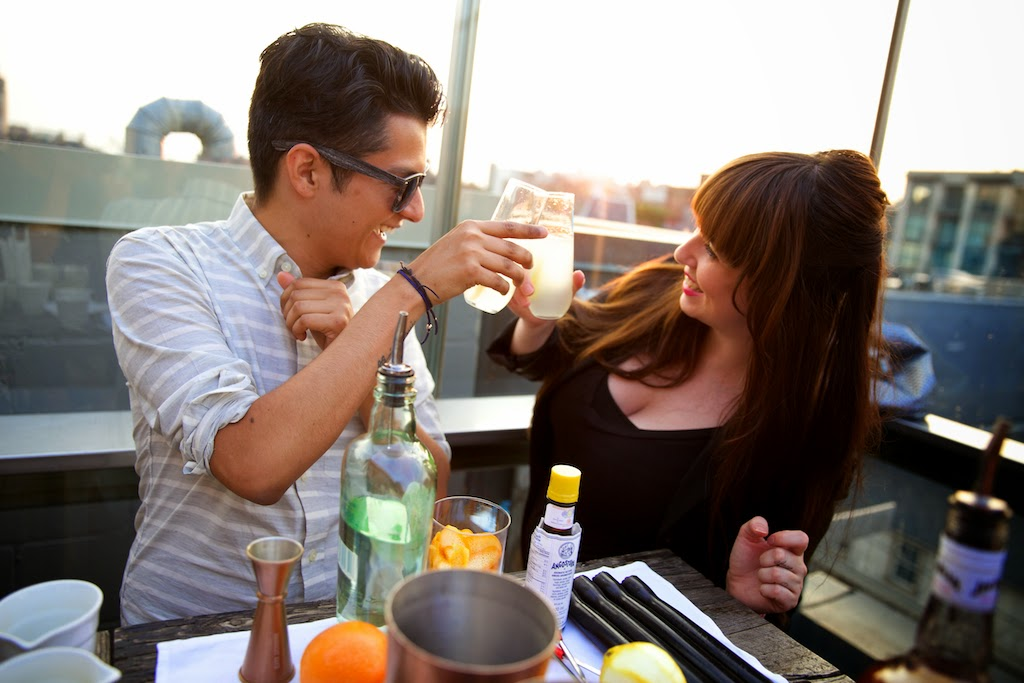 "Drinks on the rooftop patio at The Beverley Hotel Toronto ""Teddy Chau Photography"""