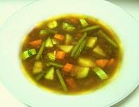 Receita de Sopa de Carne de Soja com Legumes