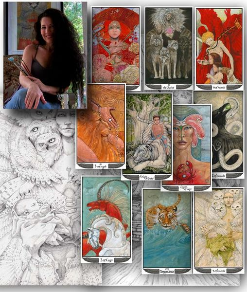 Mary-El Tarot Marie White ไพ่ทาโรต์ Tarot ไพ่ยิปซี ไพ่ทาโร่ Schiffer Books