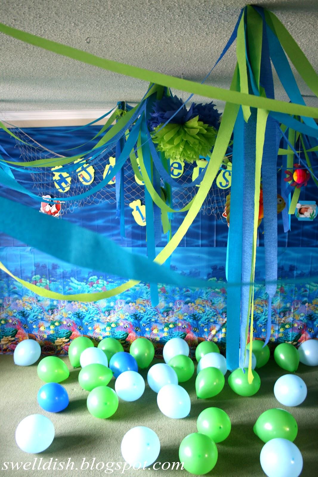 The swell dish ocean nautical under the sea party room decor for Ocean decor ideas
