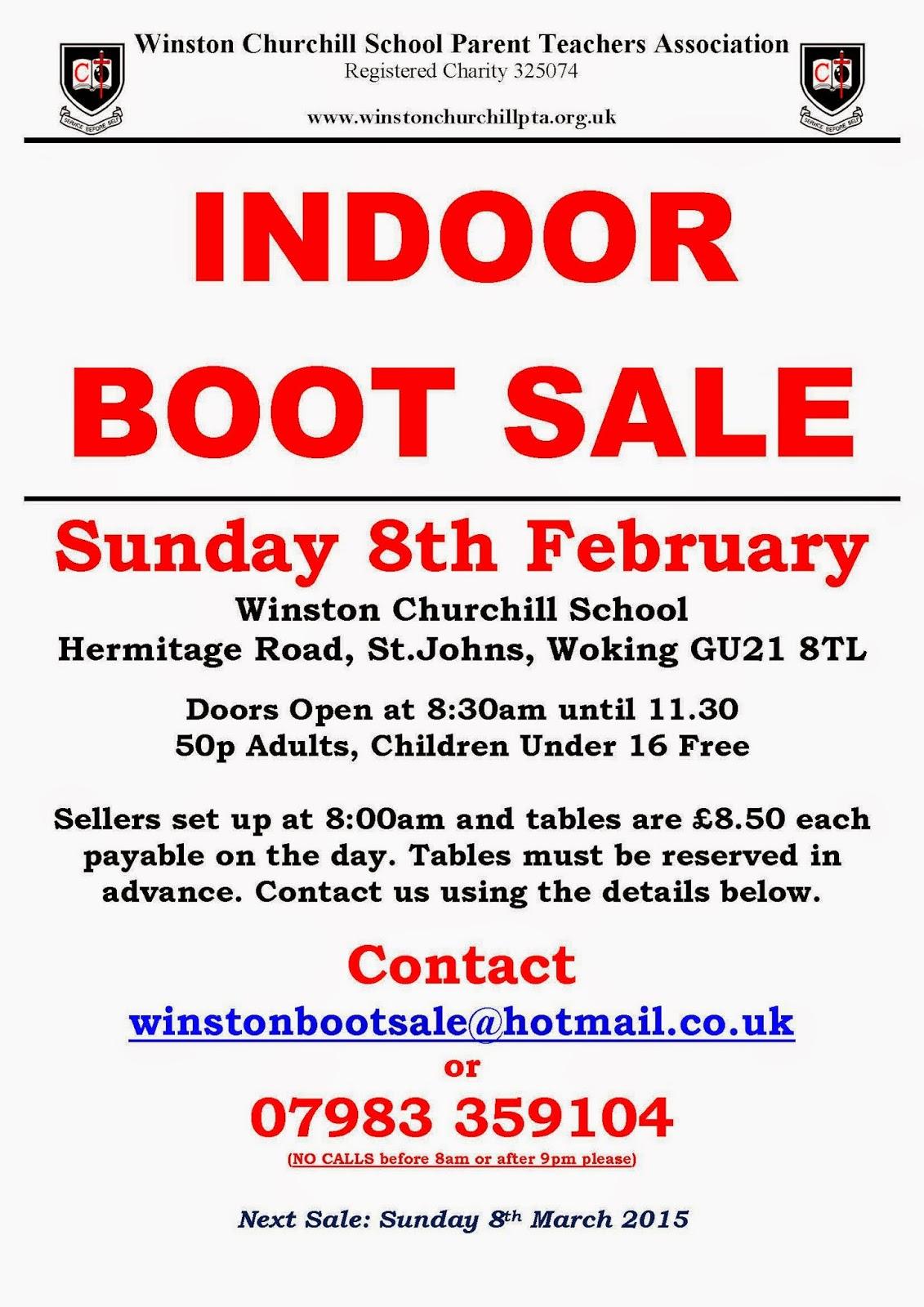 Indoor Boot Sale