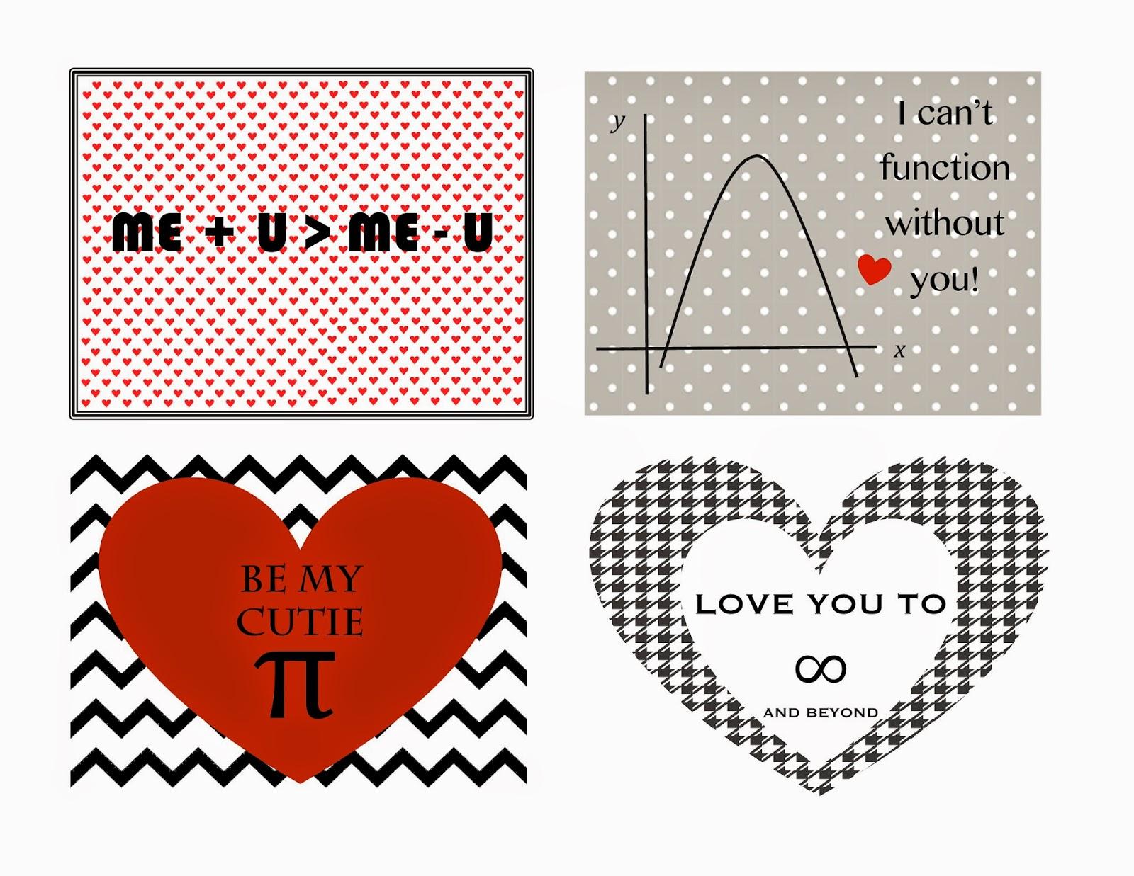 geeky math valentines