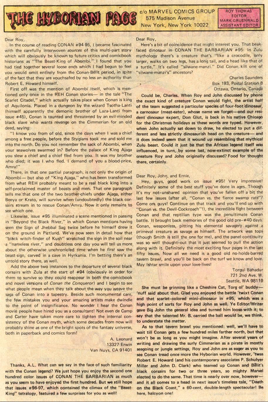 Conan the Barbarian (1970) Issue #99 #111 - English 20