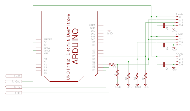 Arduino based Digital Readout (DRO) schematic