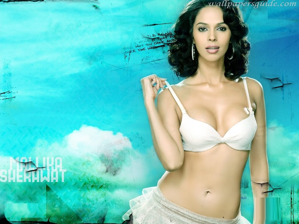 Mallika Sherawat Spicy Bikini Wallpapers Hot Cleavage
