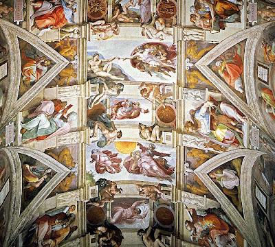 سقف كنيسة سيستينا