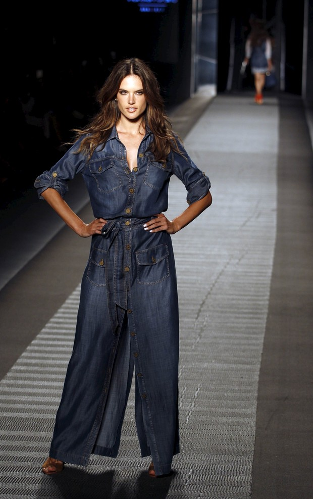 Alessandra Ambrosio at fashion week of Colombia