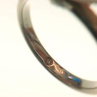 FURRER JACOT フラージャコー 鍛造 結婚指輪 プラチナ インサイド ダイヤモンド