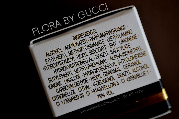 Gucci Flora EDT Spray Eau de Toilette Perfumes Fragrances Designer Women Makeup Beauty Blog Reviews Ingredients
