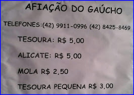 AFIAÇÃO DO GAÚCHO
