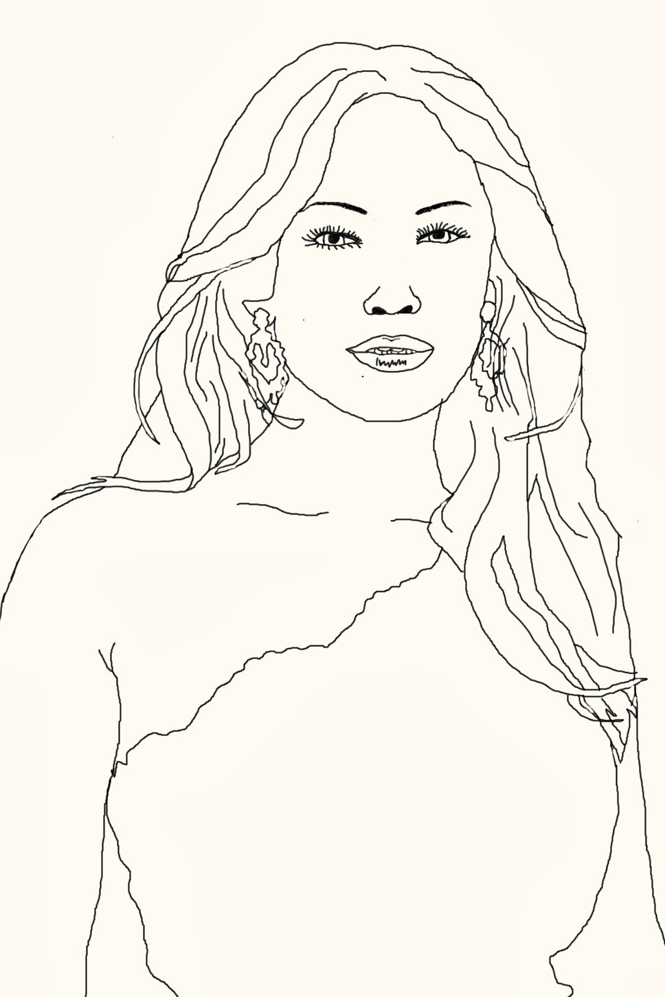 Art Attack: Celebrity Coloring Book Page: Jennifer Lopez