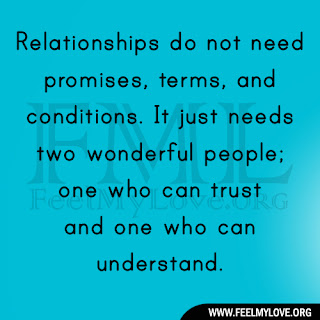 Relationships do not need promises